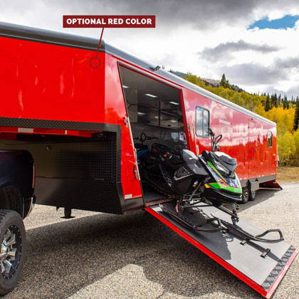 Optional Red Colored Snowmobile Trailer