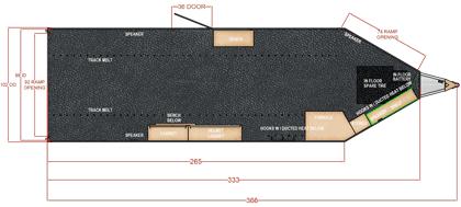 28 Ft Bumper Pull Snowmobile Trailer Blueprint