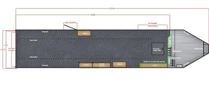 34 Ft Gooseneck Snowmobile Trailer Blueprint