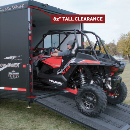 Hybrid Snowmobile & UTV Trailer